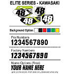 Factory Effex DX1 Backgrounds Elite - Kawasaki - Kawasaki KX125 Dirt Bike Graphics