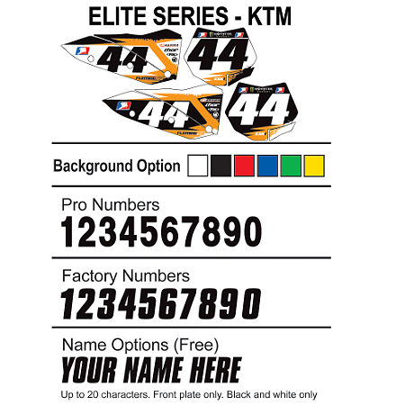 Factory Effex DX1 Backgrounds Elite - KTM - Main