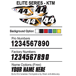 Factory Effex DX1 Backgrounds Elite - KTM - 2009 KTM 450SXF Factory Effex All-Grip Seat Cover