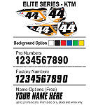 Factory Effex DX1 Backgrounds Elite - KTM - KTM 525EXC Dirt Bike Graphics