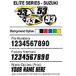 Factory Effex DX1 Backgrounds Elite - Suzuki - Motocross Graphics & Dirt Bike Graphics