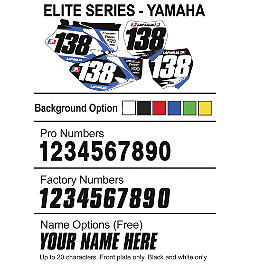 Factory Effex DX1 Backgrounds Elite - Yamaha - 2003 Yamaha YZ250F 2013 Factory Effex Number Plate Backgrounds Yamaha - Black