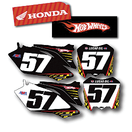 Factory Effex DX1 Backgrounds Hot Wheels - Honda - 2009 Honda CRF450R Factory Effex FP1 Seat Cover - Black