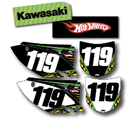 Factory Effex DX1 Backgrounds Hot Wheels - Kawasaki - 2007 Kawasaki KX250F 2013 Factory Effex Rear Fender Decal - Kawasaki