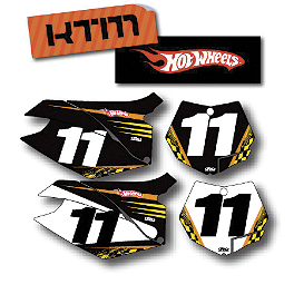 Factory Effex DX1 Backgrounds Hot Wheels - KTM - 2009 KTM 250XCFW Factory Effex All-Grip Seat Cover
