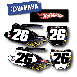 Factory Effex DX1 Backgrounds Hot Wheels - Yamaha - 2008 Yamaha YZ450F Factory Effex All-Grip Seat Cover