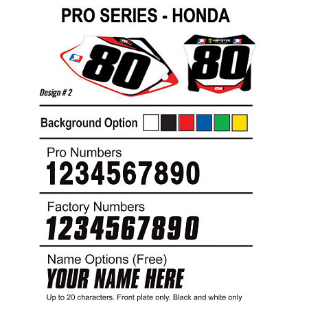 Factory Effex DX1 Backgrounds Pro - Honda - Main