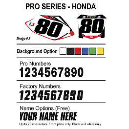 Factory Effex DX1 Backgrounds Pro - Honda - 2007 Honda CR250 Factory Effex FP1 Seat Cover - Black