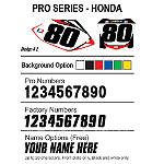 Factory Effex DX1 Backgrounds Pro - Honda - Dirt Bike Body Parts and Accessories