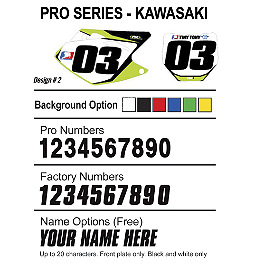 Factory Effex DX1 Backgrounds Pro - Kawasaki - 2010 Kawasaki KX85 2013 Factory Effex Rear Fender Decal - Kawasaki
