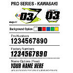 Factory Effex DX1 Backgrounds Pro - Kawasaki - Kawasaki KX100 Dirt Bike Graphics
