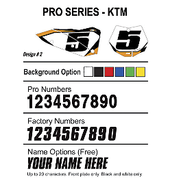 Factory Effex DX1 Backgrounds Pro - KTM - 2013 Factory Effex Rear Fender Decal - KTM