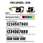 Factory Effex DX1 Backgrounds Pro - KTM - KTM 525EXC Dirt Bike Body Parts and Accessories