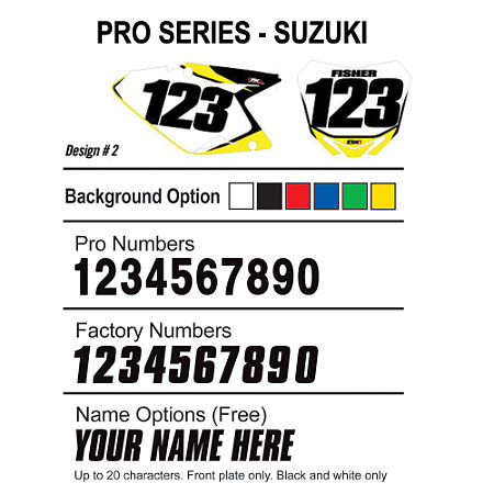 Factory Effex DX1 Backgrounds Pro - Suzuki - Main