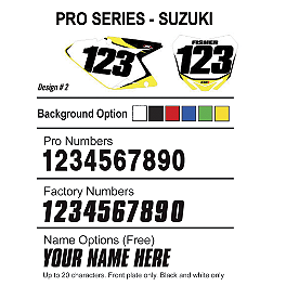 Factory Effex DX1 Backgrounds Pro - Suzuki - 2004 Suzuki RMZ250 Factory Effex DX1 Backgrounds Standard - Suzuki
