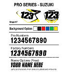 Factory Effex DX1 Backgrounds Pro - Suzuki - Dirt Bike Body Parts and Accessories