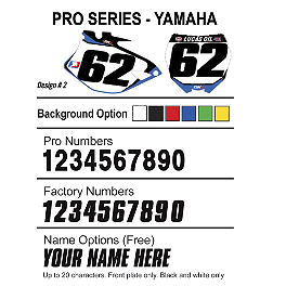Factory Effex DX1 Backgrounds Pro - Yamaha - 2010 Yamaha YZ125 2013 Factory Effex Two Complete Graphic Kit - Yamaha