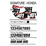 Factory Effex DX1 Backgrounds Signature - Honda - Dirt Bike Body Parts and Accessories