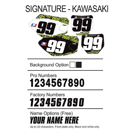 Factory Effex DX1 Backgrounds Signature - Kawasaki - Main