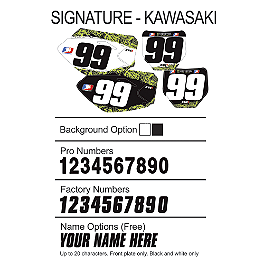 Factory Effex DX1 Backgrounds Signature - Kawasaki - 2011 Kawasaki KX450F Factory Effex B-4 Gripper Seat Cover Kawasaki