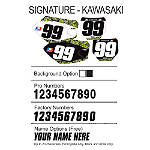 Factory Effex DX1 Backgrounds Signature - Kawasaki - Kawasaki KX125 Dirt Bike Graphics