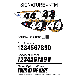 Factory Effex DX1 Backgrounds Signature - KTM - 2009 KTM 250XC Factory Effex DX1 Backgrounds Hot Wheels - KTM