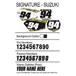 Factory Effex DX1 Backgrounds Signature - Suzuki - 2010 Suzuki RMZ250 2013 Factory Effex EVO 10 Graphics - Suzuki