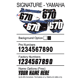 Factory Effex DX1 Backgrounds Signature- Yamaha - 2004 Yamaha YZ250 2013 Factory Effex Two Complete Graphic Kit - Yamaha