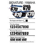 Factory Effex DX1 Backgrounds Signature- Yamaha - Custom Dirt Bike Graphics
