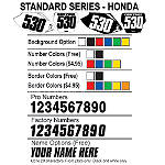 Factory Effex DX1 Backgrounds Standard - Honda - Factory Effex Dirt Bike Body Parts and Accessories