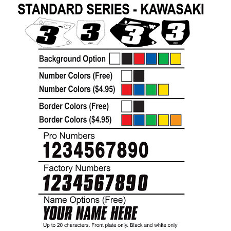 Factory Effex DX1 Backgrounds Standard - Kawasaki - Main