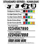 Factory Effex DX1 Backgrounds Standard - Kawasaki - Custom Dirt Bike Graphics