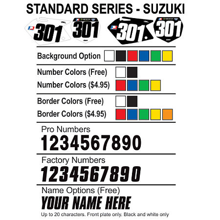 Factory Effex DX1 Backgrounds Standard - Suzuki - Main