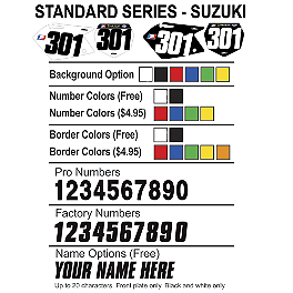 Factory Effex DX1 Backgrounds Standard - Suzuki - 2001 Suzuki RM125 Factory Effex DX1 Backgrounds Pro - Suzuki