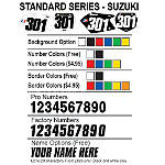 Factory Effex DX1 Backgrounds Standard - Suzuki - Custom Dirt Bike Graphics