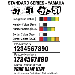 Factory Effex DX1 Backgrounds Standard - Yamaha - 2012 Yamaha YZ450F 2013 Factory Effex Two Complete Graphic Kit - Yamaha