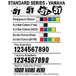Factory Effex DX1 Backgrounds Standard - Yamaha - Yamaha YZ80 Dirt Bike Body Parts and Accessories