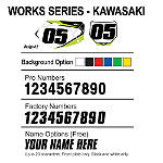 Factory Effex DX1 Backgrounds Works - Kawasaki - Dirt Bike Body Parts and Accessories