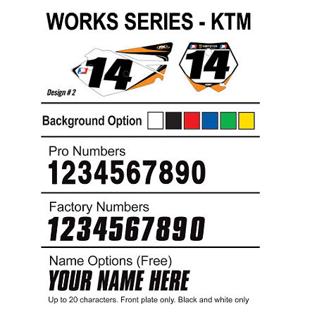 Factory Effex DX1 Backgrounds Works - KTM - Main