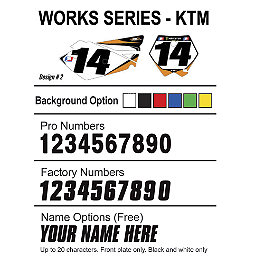 Factory Effex DX1 Backgrounds Works - KTM - 2009 KTM 250XCFW Factory Effex All-Grip Seat Cover