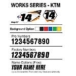 Factory Effex DX1 Backgrounds Works - KTM - KTM 525EXC Dirt Bike Body Parts and Accessories
