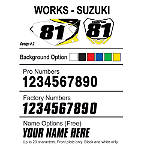 Factory Effex DX1 Backgrounds Works - Suzuki - Custom Dirt Bike Graphics