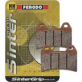 Ferodo Sintered ST Brake Pads - Front - 2006 Triumph Speed Triple Scorpion Exhaust Serket Parallel Slip-On Exhaust - Titanium