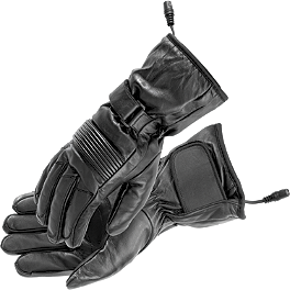 Firstgear Heated Rider Gloves - TourMaster Synergy 2.0 Electric Leather Gloves