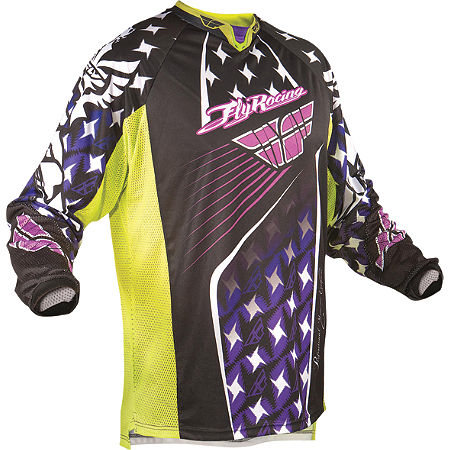 2011 Fly Racing Youth Kinetic Jersey - Flash - Main