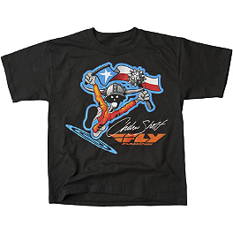 Fly Racing Andrew Short T-Shirt - One Industries Rockstar Harrington 3/4 Sleeve Baseball Jersey