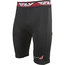 Fly Racing Chamois Shorts - 2014 Troy Lee Designs Shock Doctor LPS1600 Base Protective Shorts