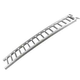 "Fly Racing Curved Aluminum Ramp - 88"" X 12"" - Fly Racing Folding Aluminum Ramp - 7.5'"