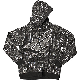 Fly Racing Reverse-A-Billy Zip Hoody - Alpinestars Busted Bones Zip Hoody