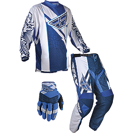 2013 Fly Racing Youth F-16 Combo - 2013 Fly Youth Kinetic Combo - Inversion Mesh